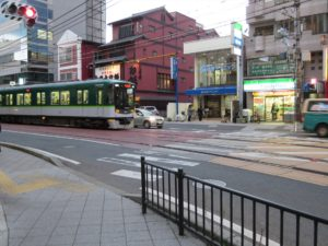 京津線の併用軌道