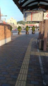洲本バスセンターの夕日