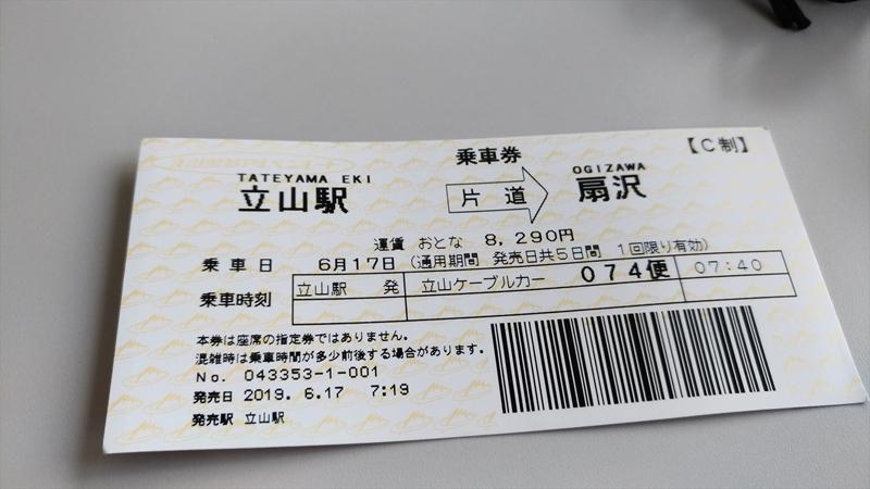 立山黒部アルペンルート切符
