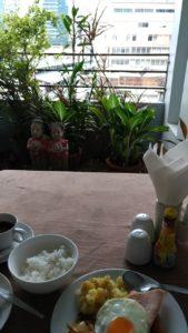 バンコクでホテルの朝食