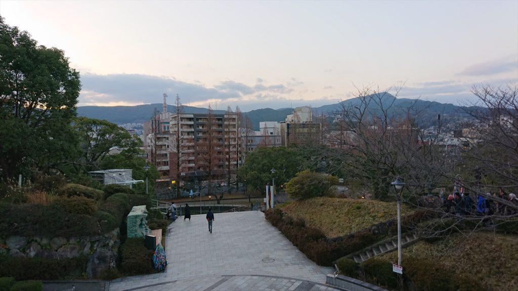 原爆資料館前からの眺め
