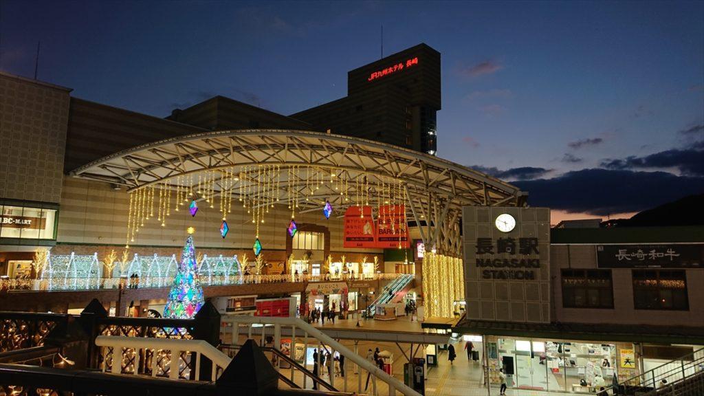 長崎駅のイルミネーション