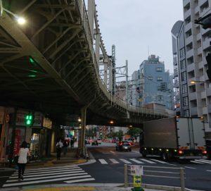 東武浅草駅のカーブ